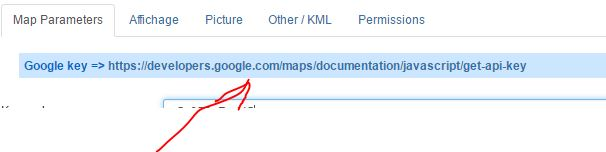 link to create Google key